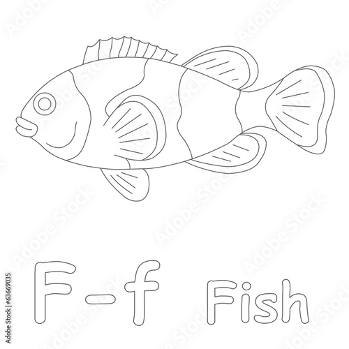 F For Fish Coloring Page Stock Photo And Royalty Free Images On - F-is-for-fish-coloring-page