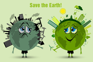 Saving the Earth ecology concept