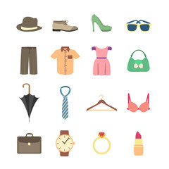 Fashion and clothes accessories icons