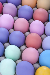.Antique and retro painted eggs to celebrate Easter