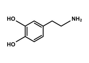 """Chemische Formel für Neurotransmitter """"DOPAMIN"""""""