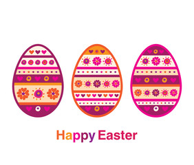 Happy Easter. Vector illustration.