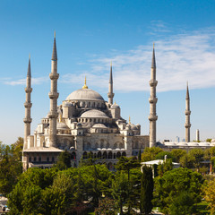 Blue Mosque against blue sky