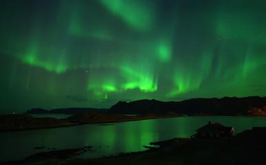 Northern lights over Northcape.  October 08, 2013