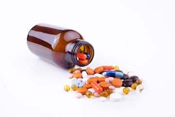Medicine And Bottle.