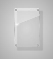 Realistic Glass Frames. Vector Illustration