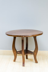 Wood chair table