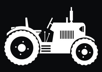 Tractor - black background