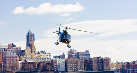 Foto auf Acrylglas Hubschrauber helicopter, Brooklyn, New York City, USA