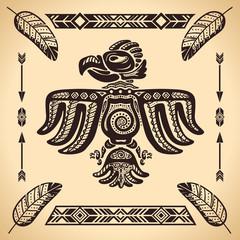 Tribal american eagle sign