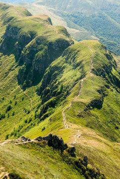 Mountain landscape near Puy Mary, Auvergne, France