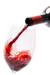 Pouring Wine Into A Glass