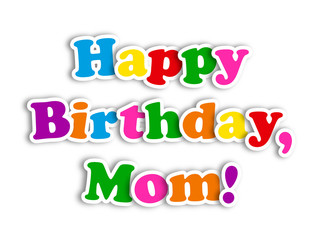 """""""HAPPY BIRTHDAY MOM"""" Card (party message congratulations mother)"""
