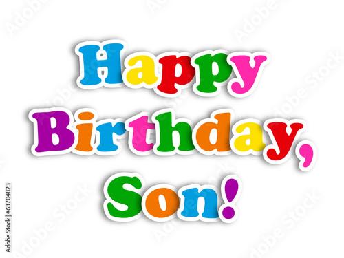 happy birthday son card party message congratulations love stock rh fotolia com Happy Birthday Son Cake happy birthday son in law clipart