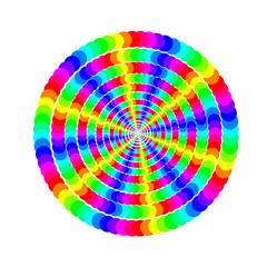 солнце цветные круги