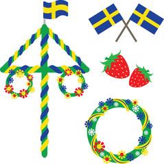 Midsummer celebrations icons