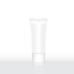 Vector illustration of Tube Cream Or Gel blank