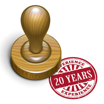 20 years experience grunge rubber stamp