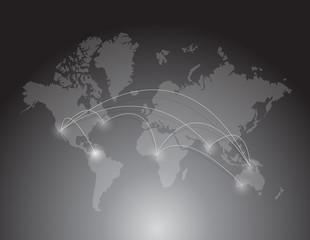 world map connection. illustration design