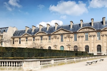 External view of the Louvre Palace