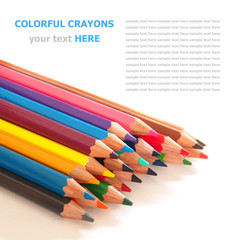 Color pencils (crayons) isolated on white background