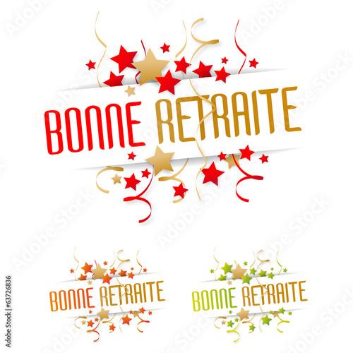"""""""Bonne retraite"""" fichier vectoriel libre de droits sur la banque d'images Fotolia.com - Image ..."""