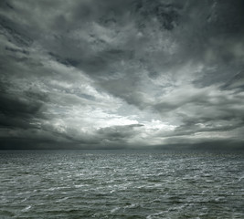 Dramatic ocean background with copy space