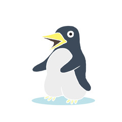 penguin cartoon - vector