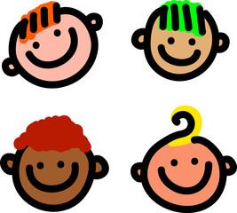 Cartoon Smiling Faces