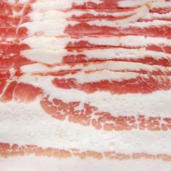 Sliced bacon.