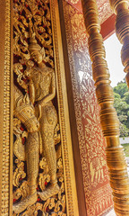 Temple Carving, Luang Prabang Laos