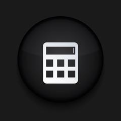 Vector modern black circle icon. Eps10