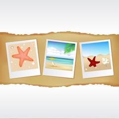 Blank Photos With Sea Theme