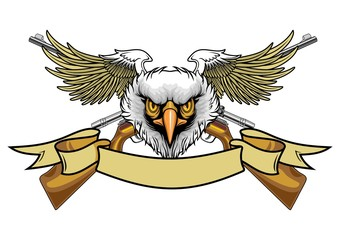 eagle with rifles
