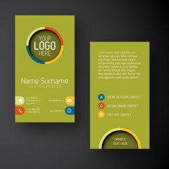 Modern green  vertical business card template