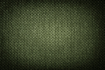 Green woven texture and background