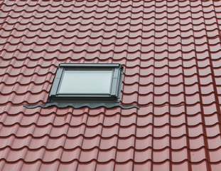 Tiling roof with window
