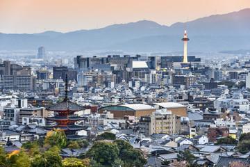 Fototapete - Kyoto Japan Skyline