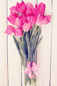 Big bouquet of  tulips