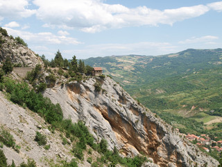 typical mountain panorama landscape