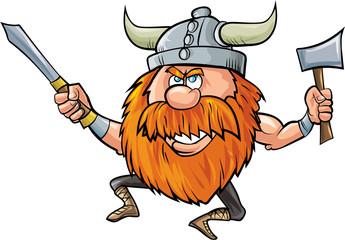 how to draw a cartoon viking