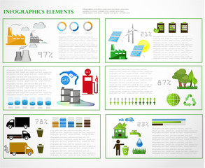 Ecology info graphics collection,graphic vector