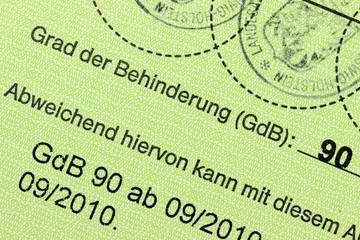 deutscher Schwerbehindertenausweis