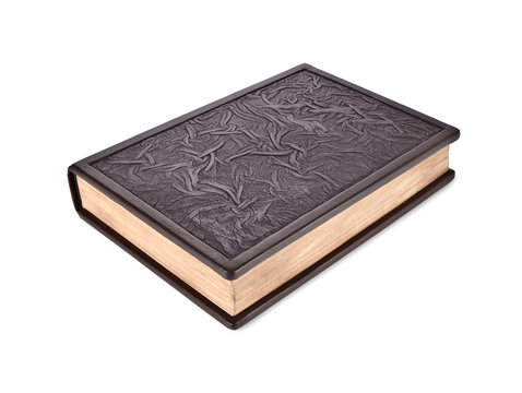 Closed book leather-bound