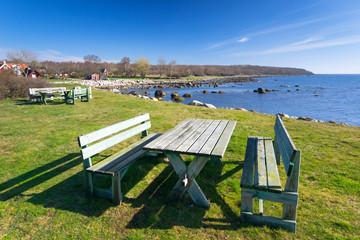 Rest place on Swedish sea coast