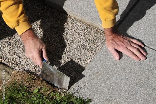 Terrassenplatten Verlegen Stockfotos Und Lizenzfreie Bilder Auf