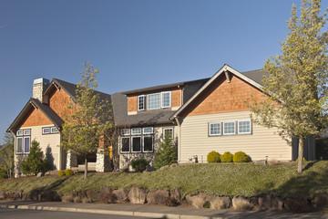 Manicured residential house Clackamas Oregon.