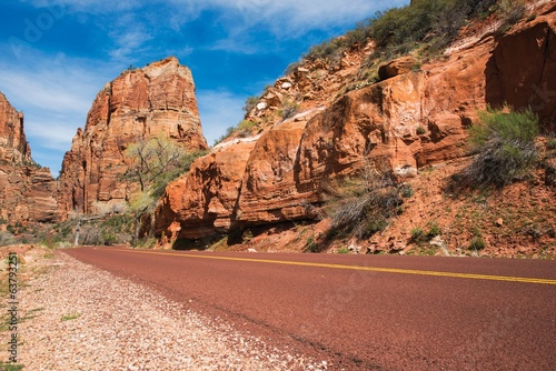 Wall mural Zion Park Road