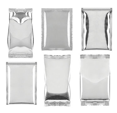 aluminum foil bag package template food