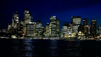 Wall Mural - Skyline by night